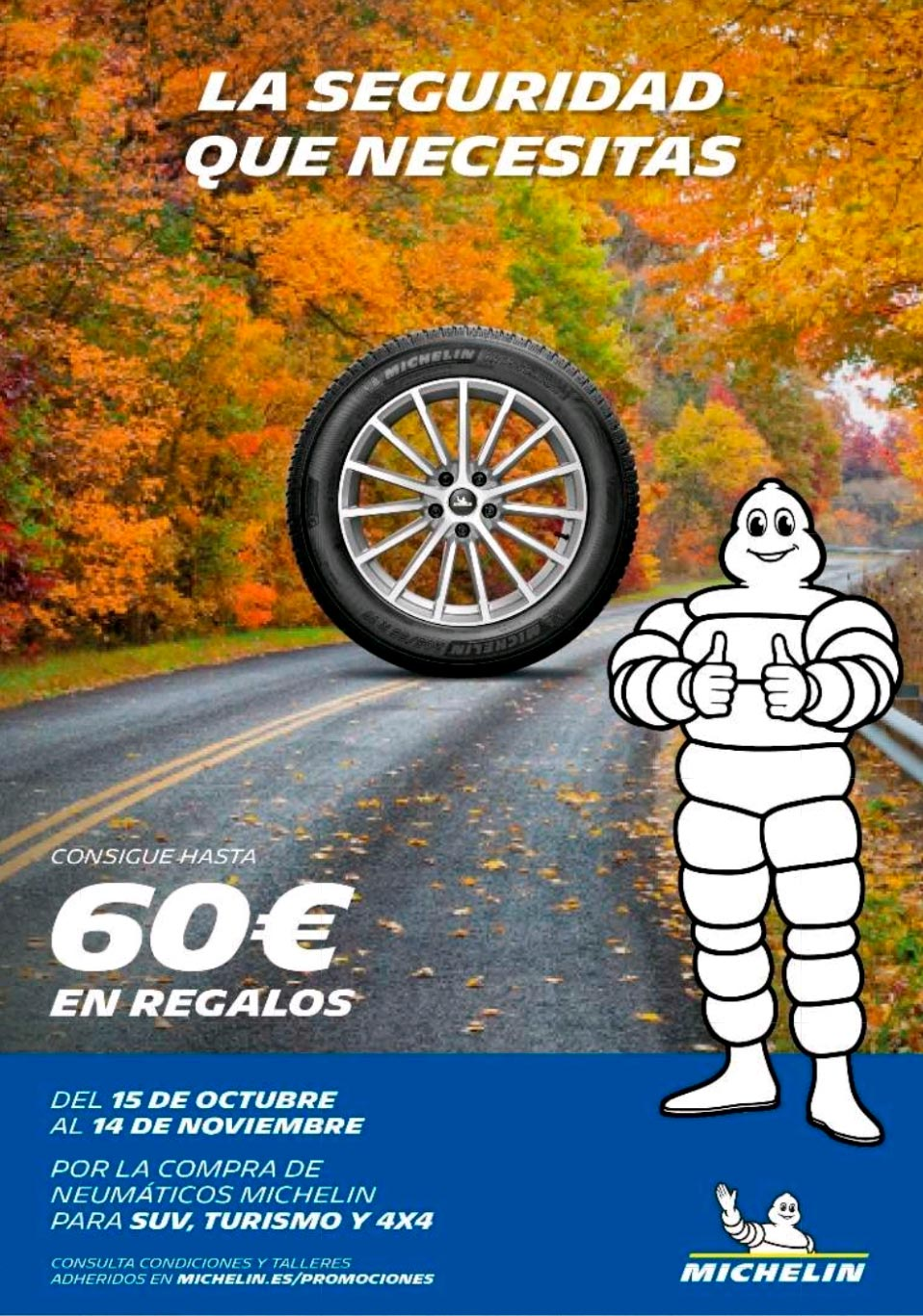 ¡Consigue hasta 60€ con Michelin!